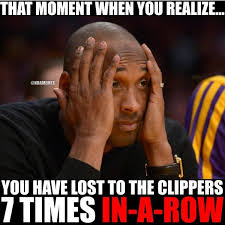 Clippers Meme - kobe bryant s realization about the la clippers streak l http