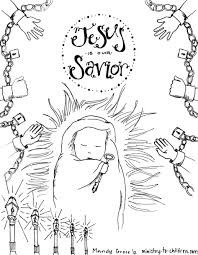 download coloring pages baby jesus christmas coloring pages free