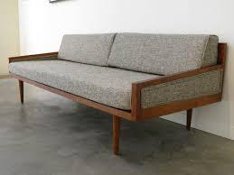 Midntury Modern Sofa Danish Retro Teak Living Room Sleeper Unique - Sleeper sofa modern design