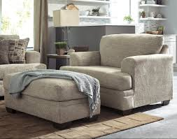 Contemporary Chairs Living Room Contemporary Chair And A Half Ottoman By Benchcraft Wolf And