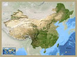 map of china china satellite wall map maps