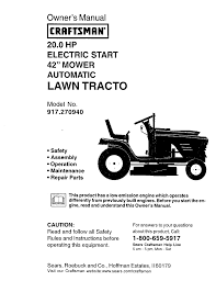 craftsman lawn mowers 917 pdf owner u0027s manual free download u0026 preview