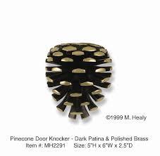 decorative door knockers michael healy designs decorative pine cone door knocker brass and