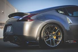 slammed nissan 370z evil eyed nissan 370z by ace alloy wheels u2014 carid com gallery