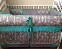 Teal Crib Bedding Teal Baby Bedding Etsy