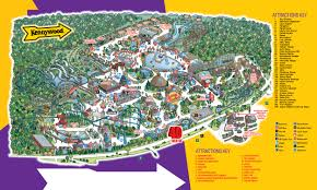 park map kennywood amusement park