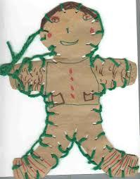 easy children u0027s christmas craft paper bag gingerbread man the