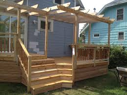 building deck stairs inside corner design and ideas