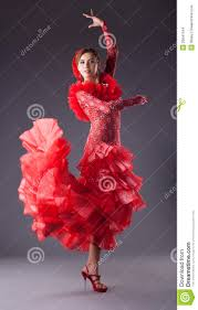 woman flamenco dancer in red costume stock images image 25641154