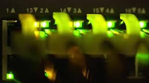Modem Internet Light Blinking Internet Connection Modem Corner Isolated On White Background View