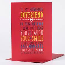 birthday card gorgeous boyfriend only 89p