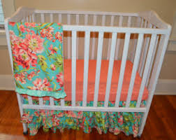 mini crib bedding etsy