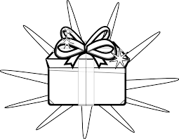 present black and white free holiday clipart black and white