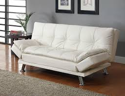 dilleston white sofa bed 300291 coaster furniture sleepers sofa