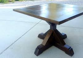 ana white x base pedestal table diy projects