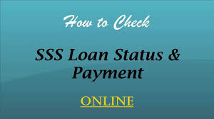 how to check sss salary loan status and payment online youtube
