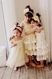 country wedding flower dresses cverre lace flower rustic burlap baby country wedding dress