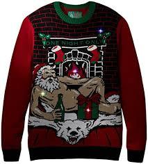 raiders light up christmas sweater ugly christmas sweater men s romantic santa light up at amazon men s