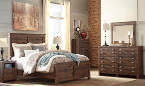 hammerstead b407 size panel bedroom set 6pcs in brown