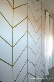 diy herringbone wall wallpaper nursery home pinterest
