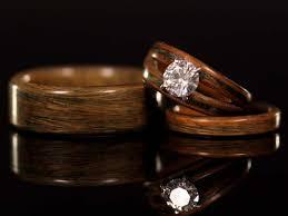 wooden wedding rings wedding rings ideas tulip wood inlay wooden wedding rings