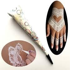 aliexpress com compre branco tatuagem de henna colar cone mehndi
