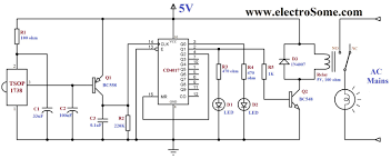 infrared remote control for home appliances receiver circuit