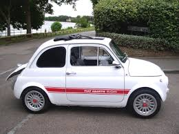 Fiat 500 Abarth White Classic Chrome Fiat Abarth 595 Replica 1975 N White