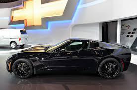 black on black corvette pics black widow s corvette stingray at the chicago auto