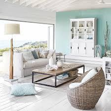 canapes maisons du monde canapé 3 4 places en lavé blanc louvre pas cher prix canapé