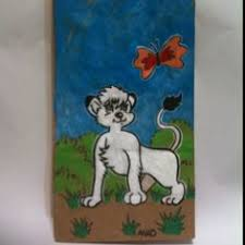 20120202 kimba the white lion cub sketch lunch bag for my son