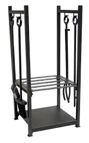 Paint For Chiminea Black Wrought Iron Wood Rack With Tools
