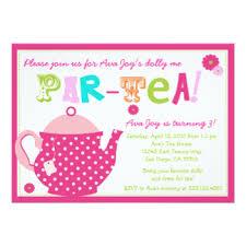 tea party birthday invitations u0026 announcements zazzle