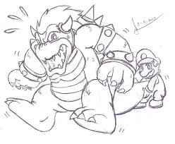 vs bowser coloring pages