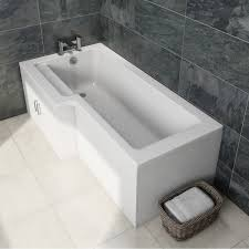 orchard myspace water saving left handed l shaped shower bath with