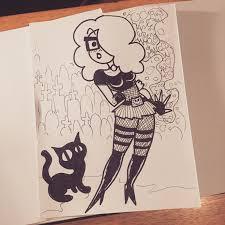 edbot5000 u0027s sketch blog cuties and kitties pinup sketches