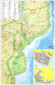 Topographic Map Of Europe by Large Detailed Road And Topographical Map Of Mozambique With All