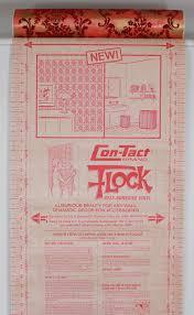 1970s vintage wallpaper red flocked contact peel n stick rosie u0027s