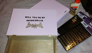 bridesmaids boxes will you be my bridesmaid boxes wedding diy tutorial to ask your