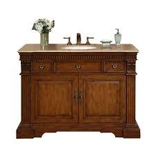 48 single sink bathroom vanity shop silkroad exclusive isabella cherry undermount single sink