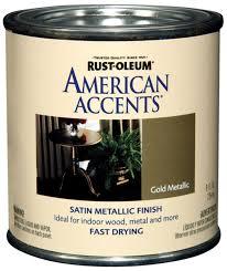 rust oleum 7954730 american accents 1 2 pint latex satin gold