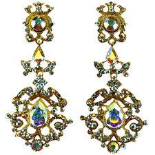 jim earrings jim earrings ce414 ab gold swarovski
