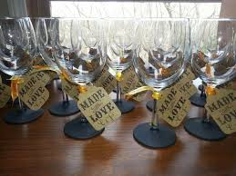 Wedding Favors For Bridal by Best 25 Wine Glass Favors Ideas On Wedding Favours