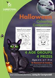carrigtwohill pharmacy halloween colouring competition 2015