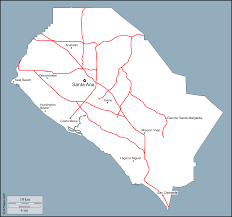 margarita outline orange county free map free blank map free outline map free