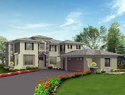 Four Car Garage House Plans Prairie Style Southwest House Plan 87657 Car Garage Bedrooms