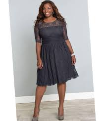 plus size sheer dress pluslook eu collection