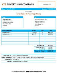 Invoice Template Excel Free Invoice Template For Word Invoice Template Places To