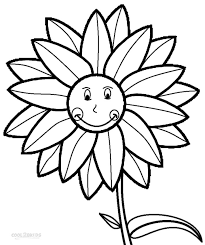 Printable Sunflower Coloring Pages For Kids Cool2bkids Sunflower Coloring Page
