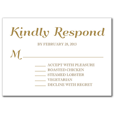 response card wording response cards